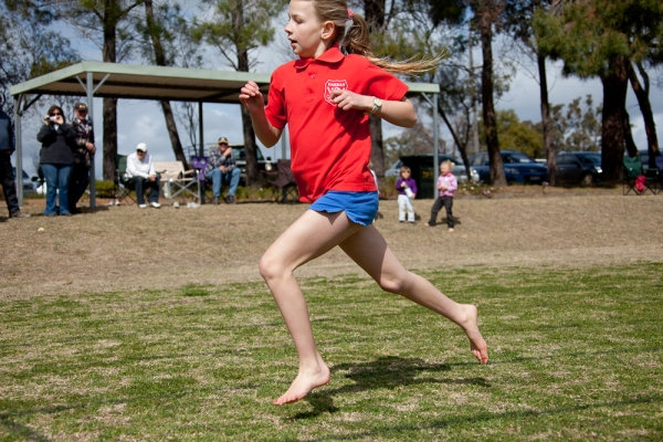 bonnie finishing the 200 metres