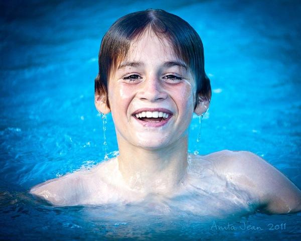 Dan in the pool