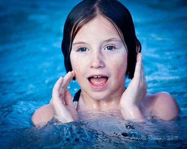 Jen in the pool