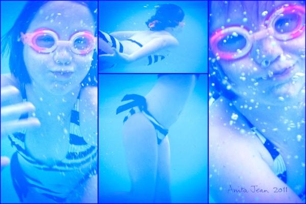 Jen underwater